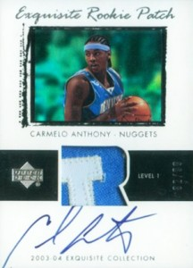 2003-04 Exquisite Carmelo Anthony RC