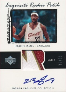 2003-04-Upper-Deck-Exquisite-Exquisite-Rookie-Patch-LeBron-James-_99
