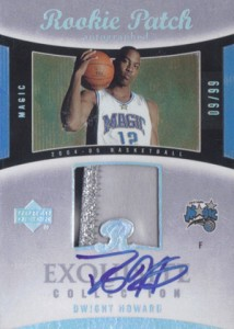 2004-05 Exquisite Dwight Howard RC
