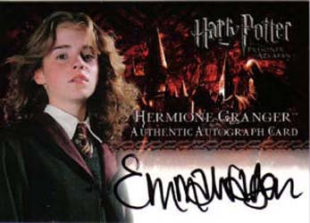 2004 Artbox Harry Potter and the Prisoner of Azkaban Autographs Emma Watson