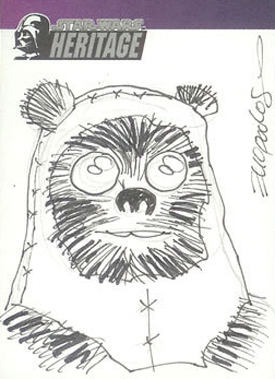 2004 Topps Star Wars Heritage Sketch Card