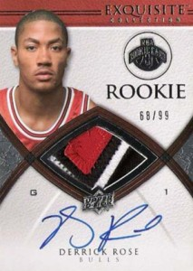 2008-09 Upper Deck Exquisite Collection Basketball Derrick Rose RC