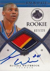 2008-09 Exquisite Russell Westbrook RC