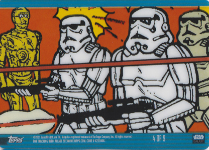 2011 Topps Star Wars Galaxy 6 Trading Cards 22