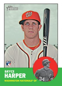 2012 Topps Heritage High Numbers Bryce Harper RC