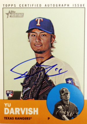 2012 Topps Heritage High Numbers Real One Autographs Yu Darvish