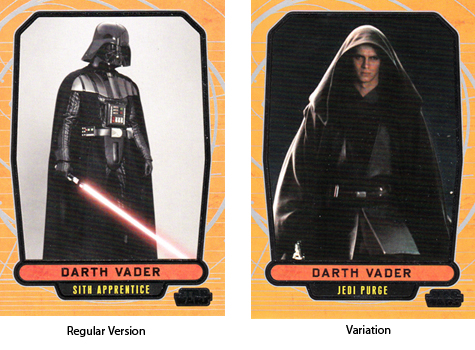 2012 Topps Star Wars Galactic Files Variations 76 Darth Vader