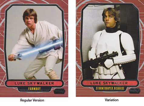 2012 Topps Star Wars Galactic Files Variations Guide 2