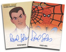 2013 Rittenhouse Spider-Man Original Animated Series Lenticular Paul Soles Autographs
