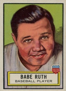 1952 Topps Look n See 15 Babe Ruth
