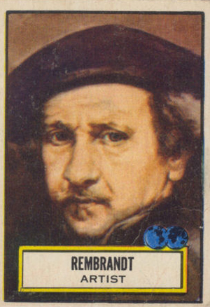 1952 Topps Look n See Rembrandt