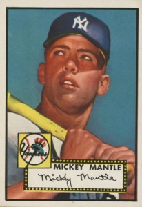 Mickey Mantle Topps Cards - 1952 to 1969 1