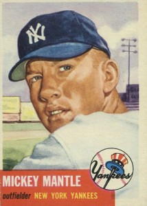 Mickey Mantle Topps Cards - 1952 to 1969 2