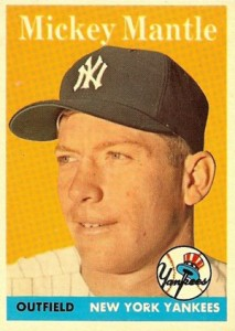 Mickey Mantle Topps Cards - 1952 to 1969 6
