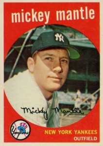 Mickey Mantle Topps Cards Visual Guide 1952 To 1969