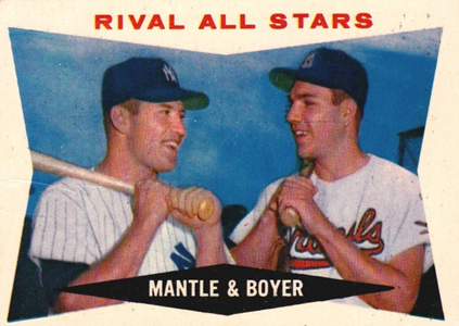 Mickey Mantle Topps Cards - 1952 to 1969 13