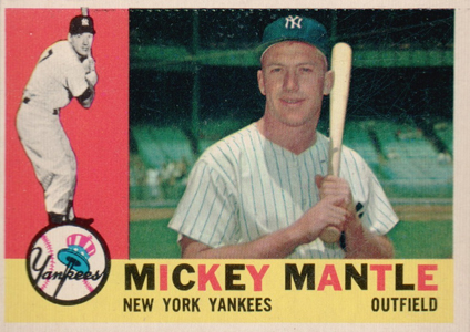 Mickey Mantle Topps Cards - 1952 to 1969 12