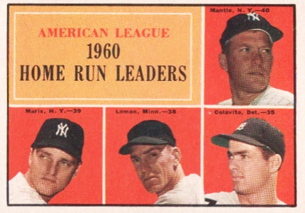 Mickey Mantle Topps Cards - 1952 to 1969 16