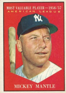 Mickey Mantle Topps Cards Visual Guide 1952 To 1969 Checklist Info
