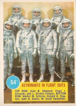 1963 Topps Astronauts Trading Cards 21