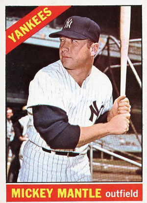1966 Topps Mickey Mantle 50