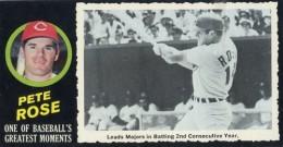 1971 Topps Greatest Moments Baseball Pete Rose