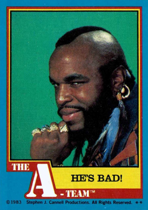1983 Topps A-Team Trading Cards 24