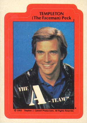 1983 Topps A-Team Trading Cards 25