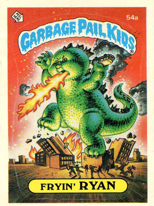 1985 Topps Garbage Pail Kids Series 2 54a Fryin' Ryan