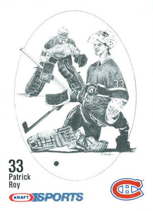 1986-87 Kraft Drawings Hockey Patrick Roy