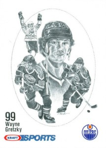 1986-87 Kraft Drawings Hockey Wayne Gretzky