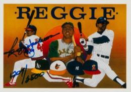 1990 Upper Deck Baseball Baseball Heroes Reggie Jackson Autograph