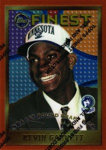 1995-96 Topps Finest Basketball Kevin Garnett RC