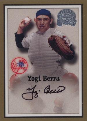 2000 Fleer Greats of the Game Baseball Autographs Yogi Berra