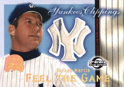 2000 Fleer Greats of the Game Yankees Clippings Mickey Mantle