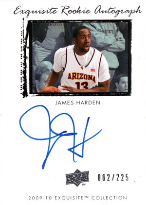 2009-10 Upper Deck Exquisite James Harden RC