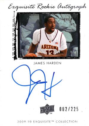 2009-10 Upper Deck Exquisite James Harden RC