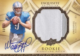 2009 Upper Deck Exquisite Collection Football Matthew Stafford RC #/99