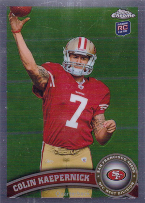2011 Topps Chrome Colin Kaepernick RC
