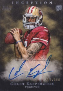 2011 Topps Inception Colin Kaepernick RC
