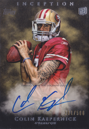 Colin Kaepernick Rookie Cards and Autograph Memorabilia Guide 23