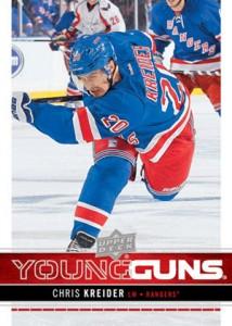 2012-13 Upper Deck Series 1 Hockey Young Guns Chris Kreider RC