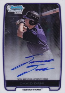 2012 Bowman Draft Pick and Prospects Baseball Prospect Autographs Guide 10