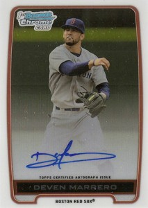 2012 Bowman Draft Pick and Prospects Baseball Prospect Autographs Guide 12