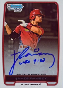 2012 Bowman Draft Pick and Prospects Baseball Prospect Autographs Guide 15