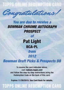 2012 Bowman Draft Pick and Prospects Baseball Prospect Autographs Guide 33