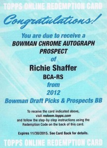 2012 Bowman Draft Pick and Prospects Baseball Prospect Autographs Guide 34