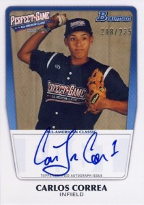 2012 Bowman Draft AFLAC, Perfect Game and Under Armour Autographs Guide 4