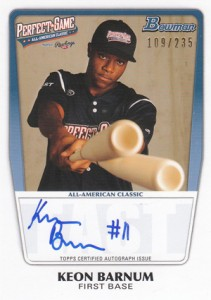2012 Bowman Draft AFLAC, Perfect Game and Under Armour Autographs Guide 1