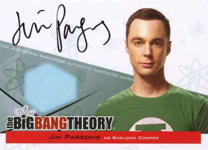 2012 Cryptozoic The Big Bang Theory Seasons 3 and 4 Sheldon Autograph Costume Card